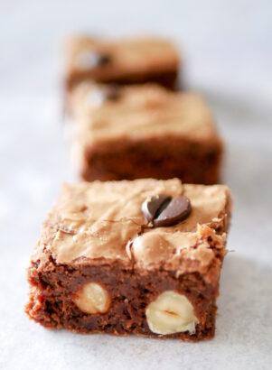 brownies noisette et gianduja