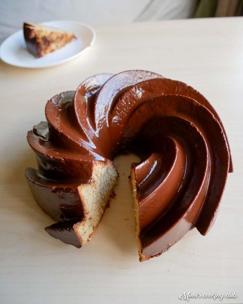bundt cake chocolat banane Michalak