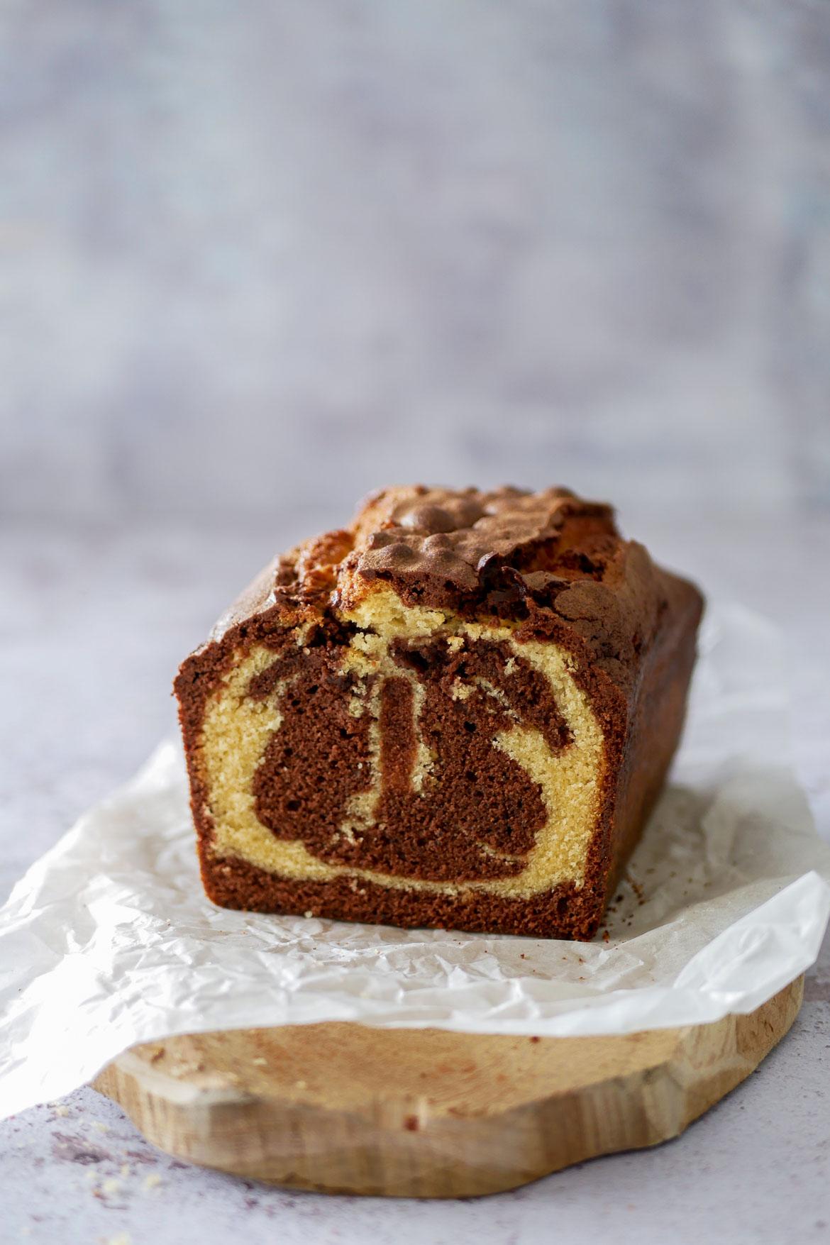 tranche de cake marbré