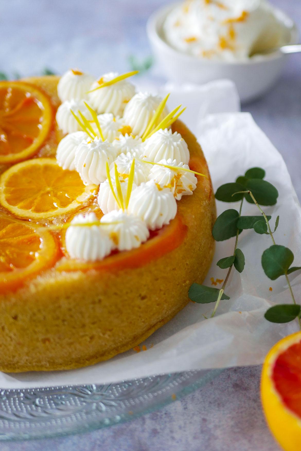 cake vapeur aux oranges sanguines