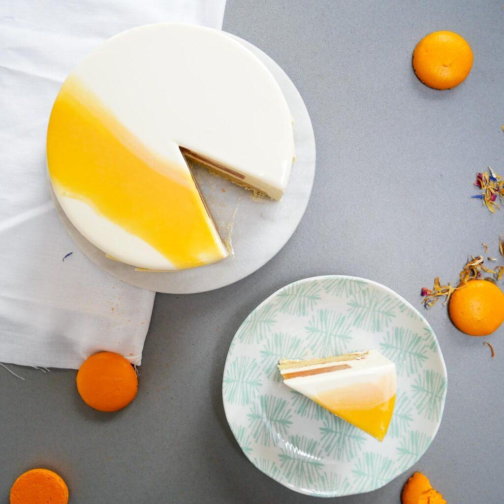 entremets pistache et abricot