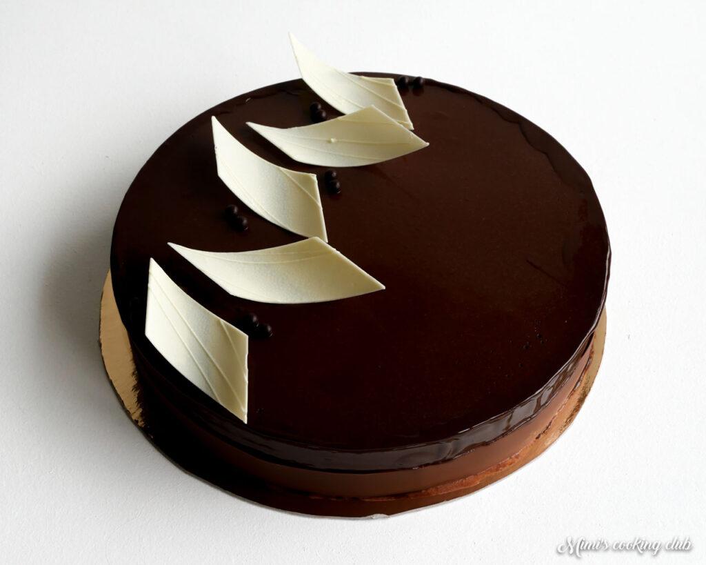 entremets trois chocolats valrhona
