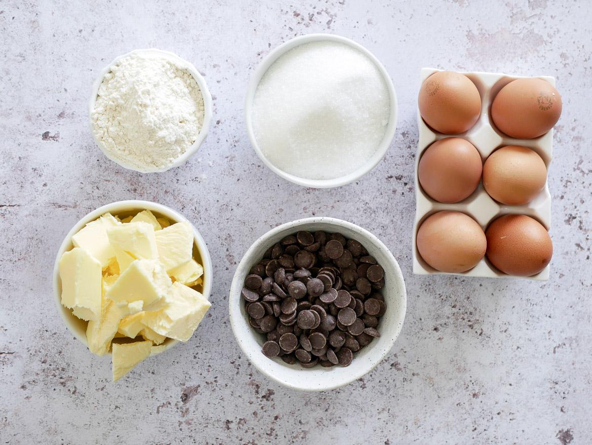 ingrédients fondant chocolat