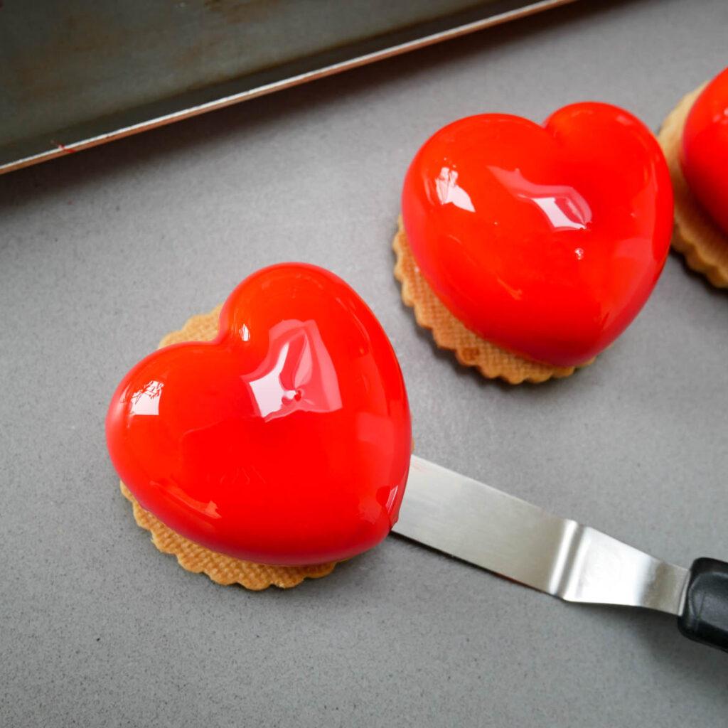 mini entremets coeur saint valentin mimi patisserie
