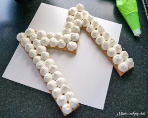 number cake letter cake cream tart